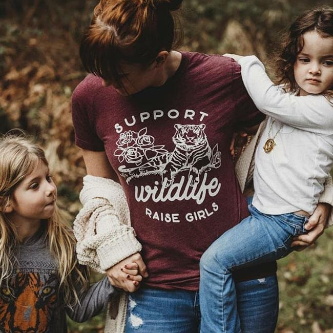Support Wildlife Raise Girls Tee - Alley & Rae Apparel