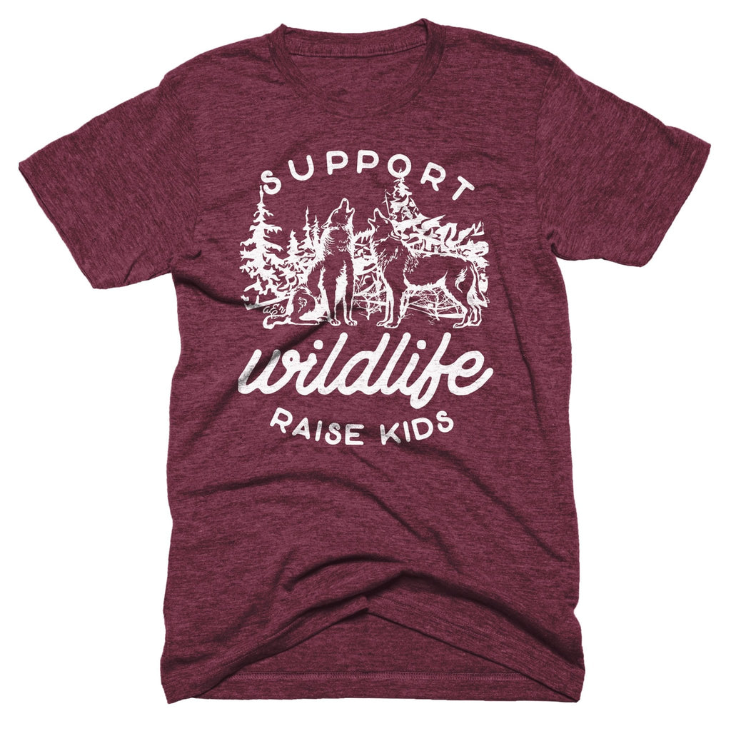 Support Wildlife Raise Kids Tee - Alley & Rae Apparel