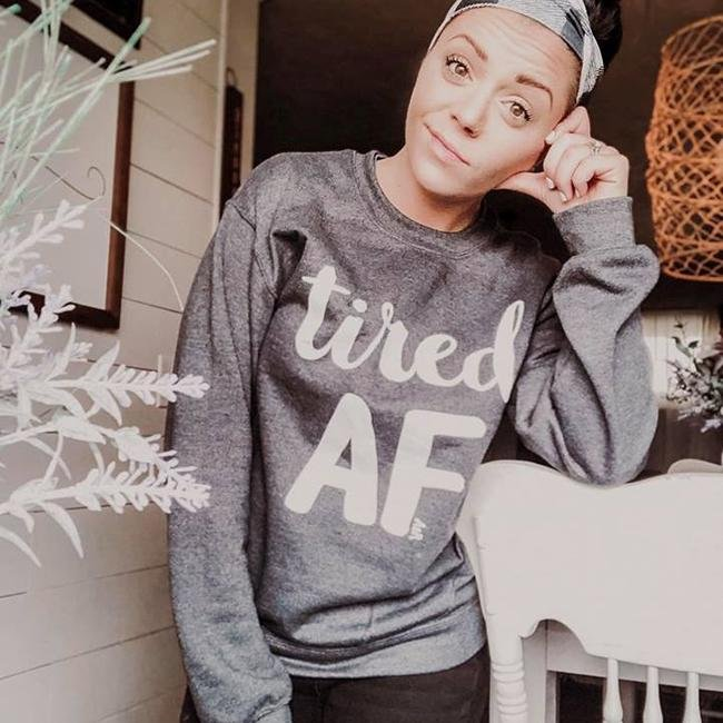 Tired AF Unisex Sweatshirt - Alley & Rae Apparel
