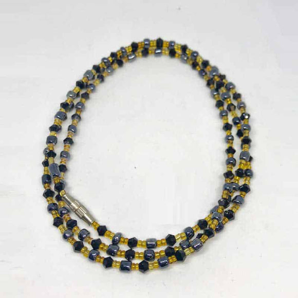 Waist Beads - Black and Gold