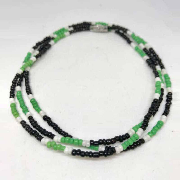 Waist Beads - Black and Green