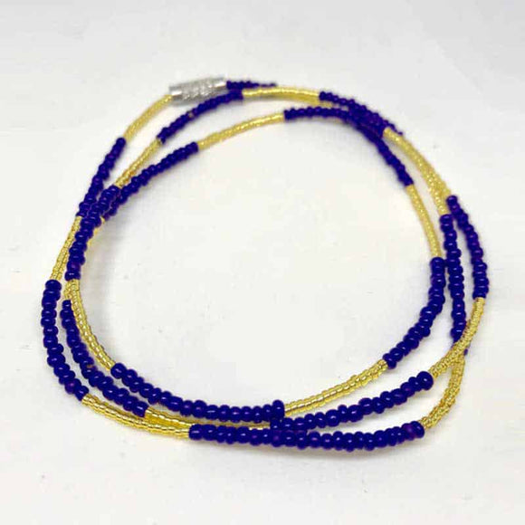 Waist Beads - Blue and Gold