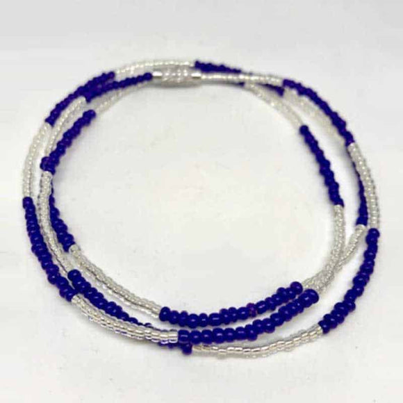 Waist Beads - Blue and Silver