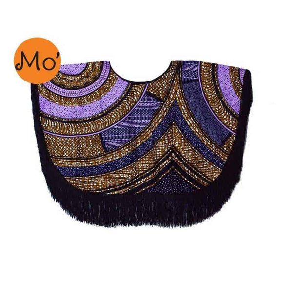 AMIGO Fringe Top - Purple and Gold