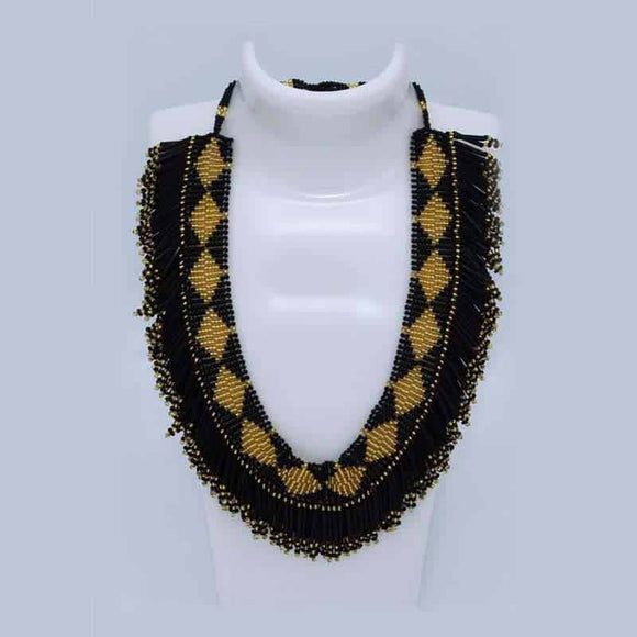 Beaded Necklace - Flat