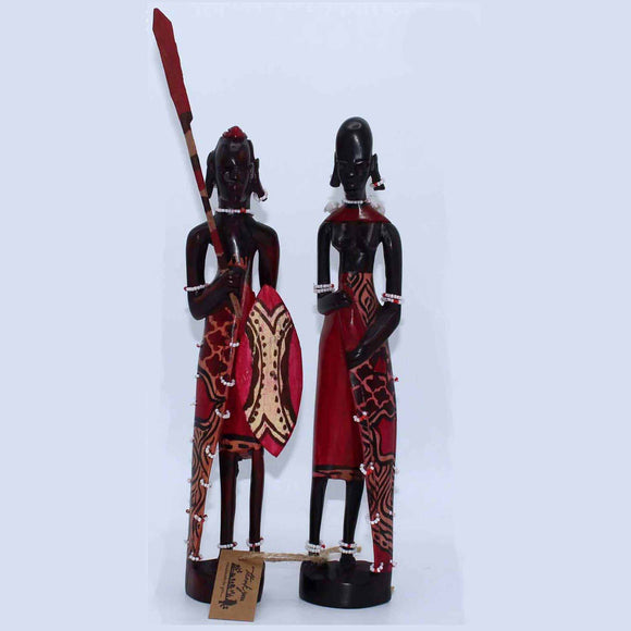 Hand Crafted Statues (Pair)