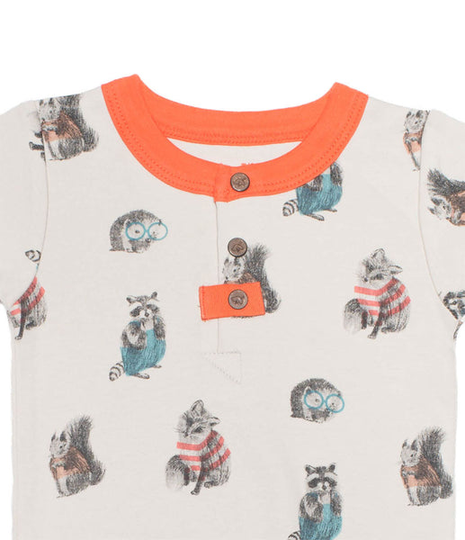 Finn + Emma Short-sleeved Woodland Babygrow - BebeThreads - 2