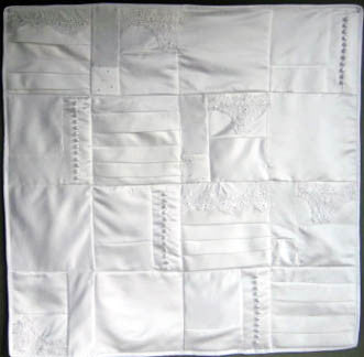 -MINI Wedding Dress Quilt, 36x36
