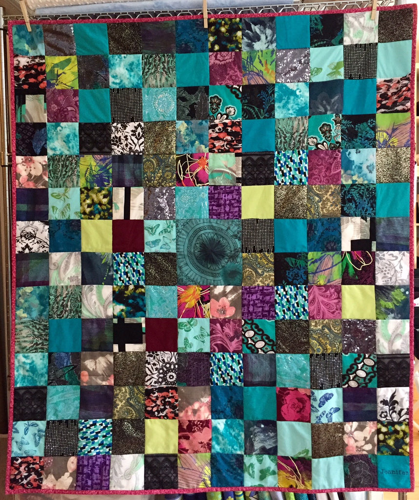 Memory Quilt made from a loved one's clothes who passed away