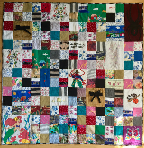Extra Large Memory Clothes Quilt 60x60, random pattern
