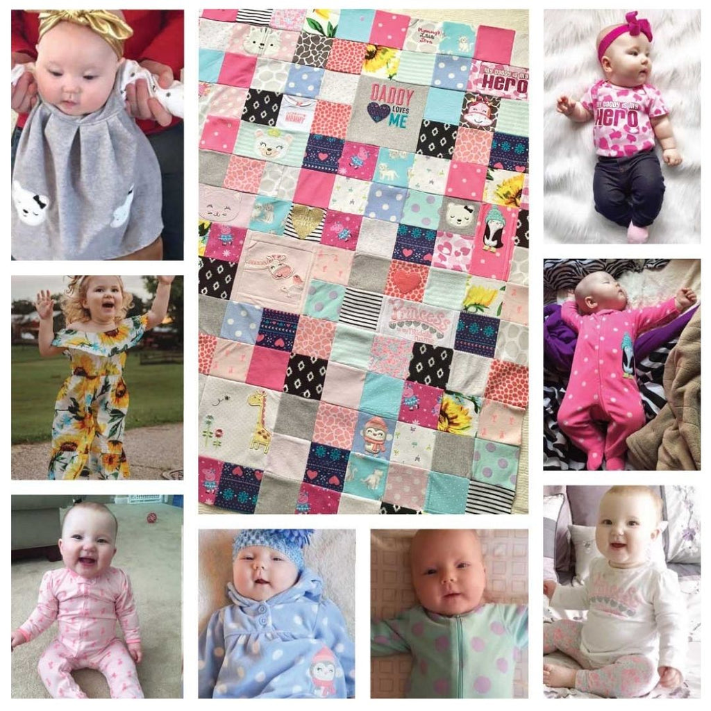 Baby Clothes Memory Quilt 48x60