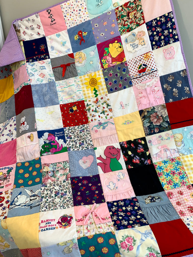 Original Memory Clothes Quilt, 48x60