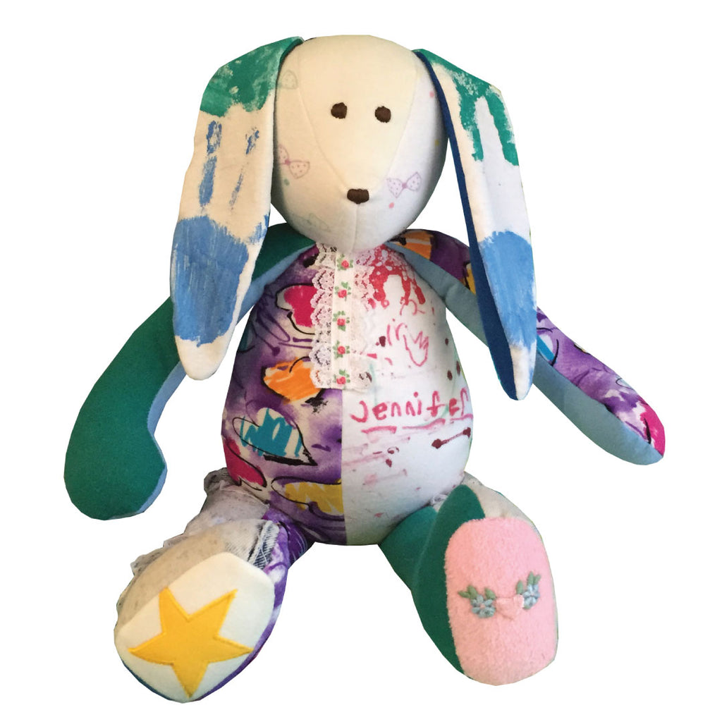 Personalized Memory Bunny by The Patchwork Bear