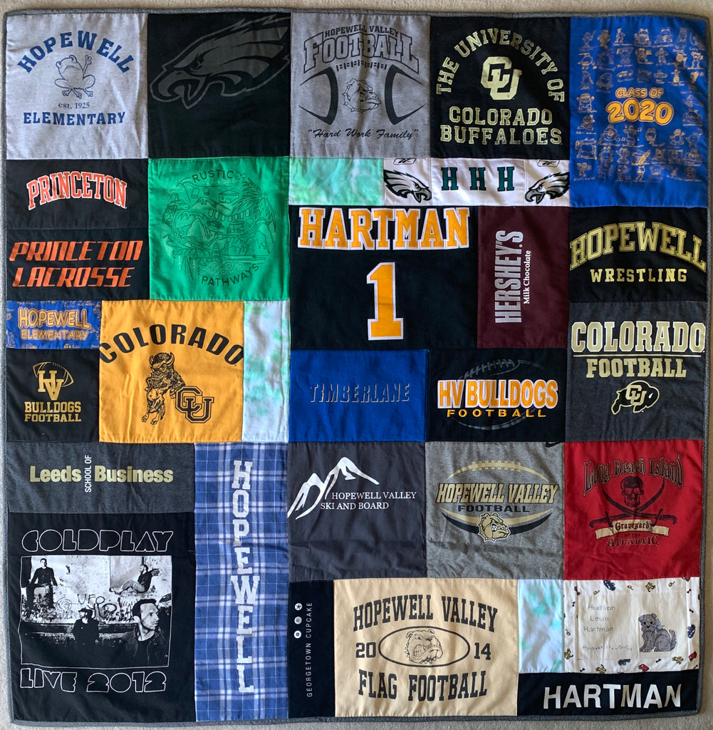 Extra Large T-shirt Quilt 60x60