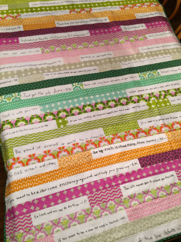Autograph/Quote Strip Quilt