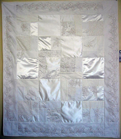 Wedding Dress Quilt, ORIGINAL 48x60