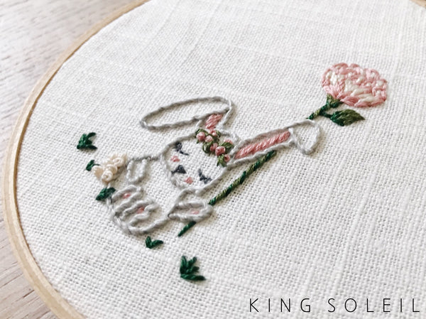 Woodland Meadow Custom Embroidery Hoop Set of Three