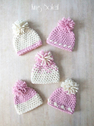 Oslo Winter Baby Hat in Pink - King Soleil - 1