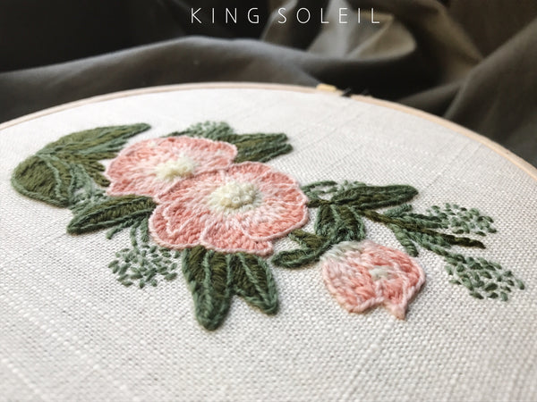 Woodland Floral Crewel Embroidery Wall Art
