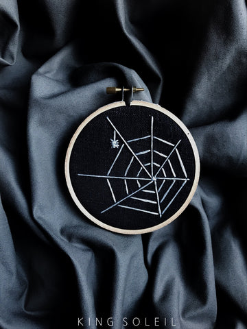 Web Halloween Decor Embroidery Art