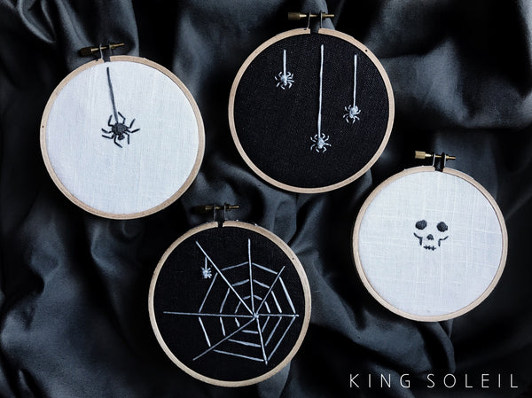 Skull Halloween Decor Embroidery Art