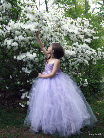 Lavender Tulle Flower Girl Dress - King Soleil - 1