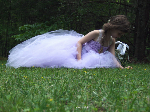 Lavender Tulle Flower Girl Dress - King Soleil - 3