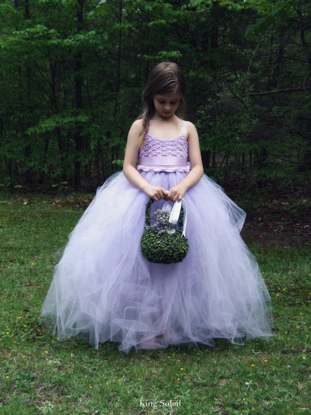 Lavender Tulle Flower Girl Dress - King Soleil - 7