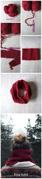 Beginners Classic Cowl Pattern - King Soleil - 6