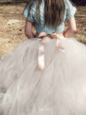 Begonia Tulle Flower Girl Tutu Skirt - King Soleil - 1