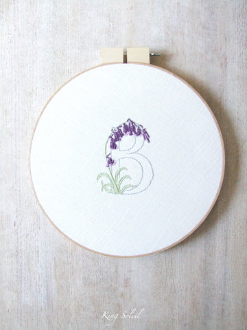 B is for Bluebells Embroidery Wall Art - King Soleil - 1