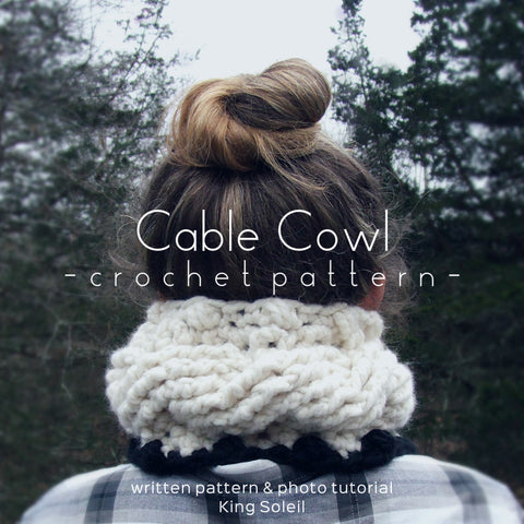 Twisted Cable Cowl Crochet Pattern and Intro to Crochet Cables