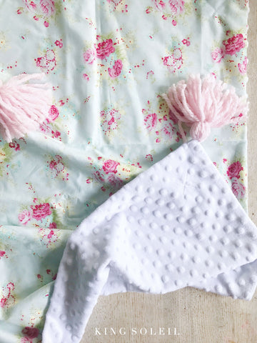 Baby Blanket English Garden with Tassels