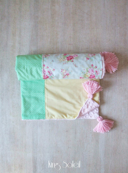 Cottage Baby Blanket with Tassels - King Soleil - 4