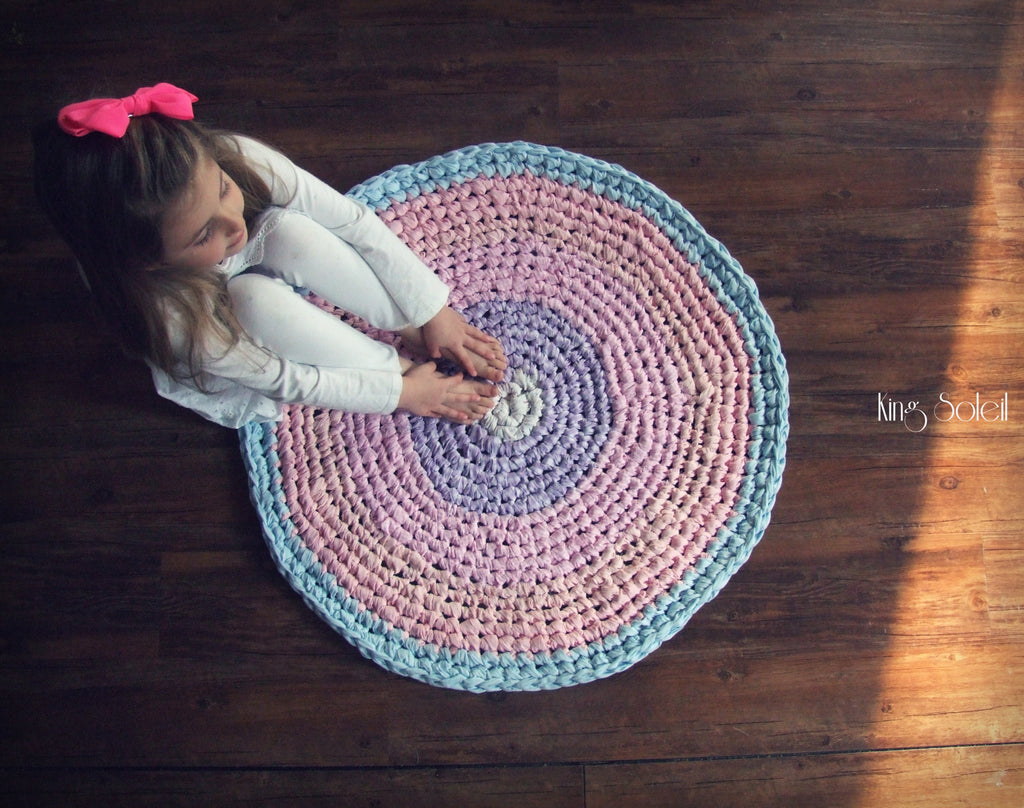 Pastel Cotton Candy Round Rug - King Soleil - 1