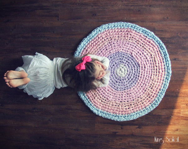Pastel Cotton Candy Round Rug - King Soleil - 2