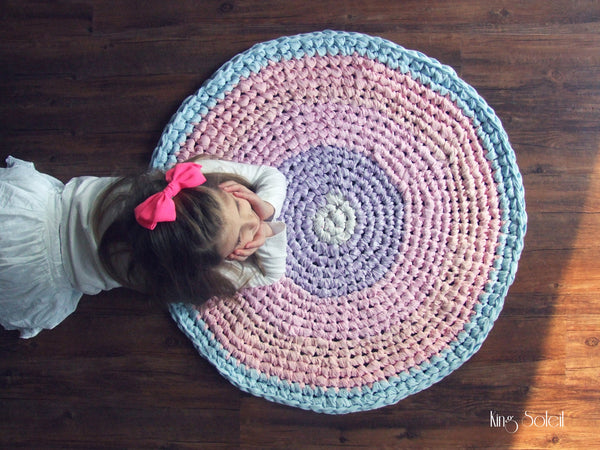 Pastel Cotton Candy Round Rug - King Soleil - 3