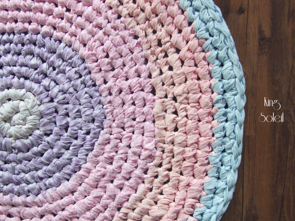 Pastel Cotton Candy Round Rug - King Soleil - 4