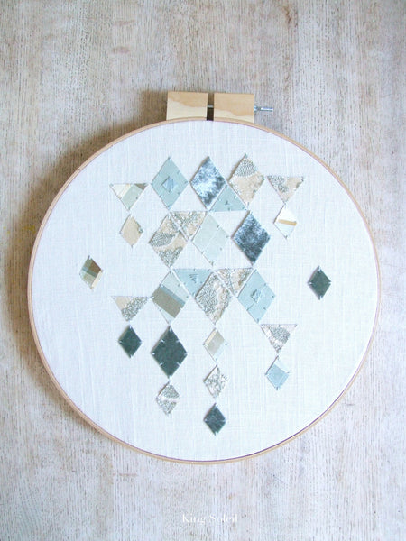 Falling Diamonds Embroidery Fiber Wall Art - King Soleil - 4