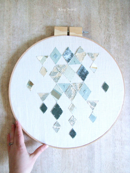 Falling Diamonds Embroidery Fiber Wall Art - King Soleil - 1