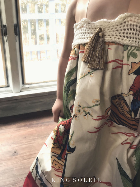 Fawn Dress Vintage Chinoiserie - King Soleil - 6