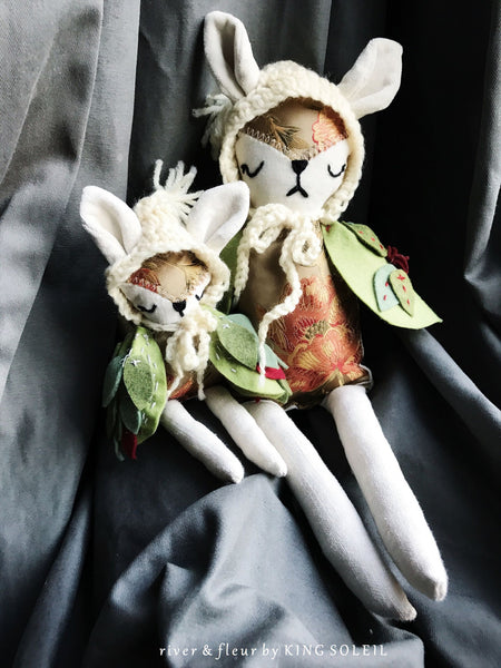 Fox Owl Mama and Baby Doll Set - King Soleil - 2