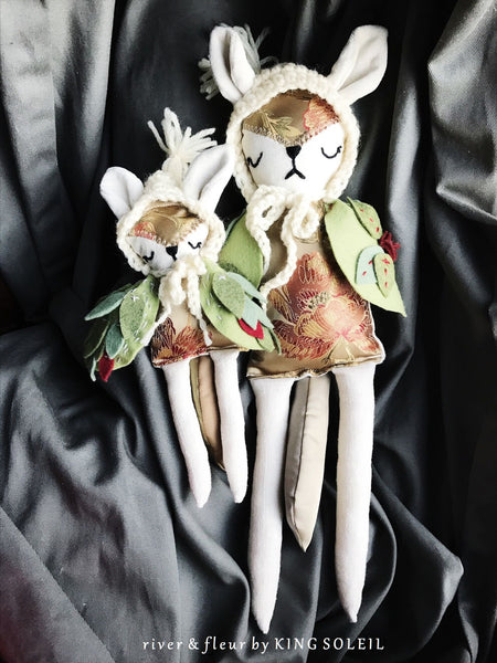 Fox Owl Mama and Baby Doll Set - King Soleil - 5