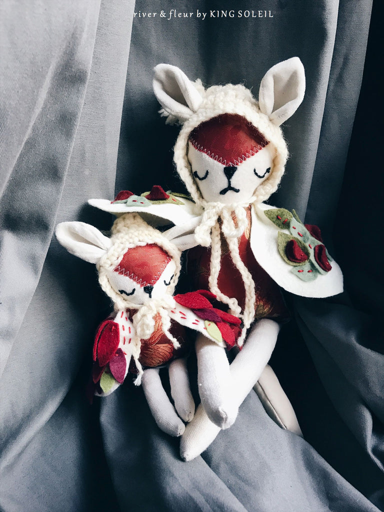 Fox Owl Mama and Baby Doll Set - King Soleil - 1