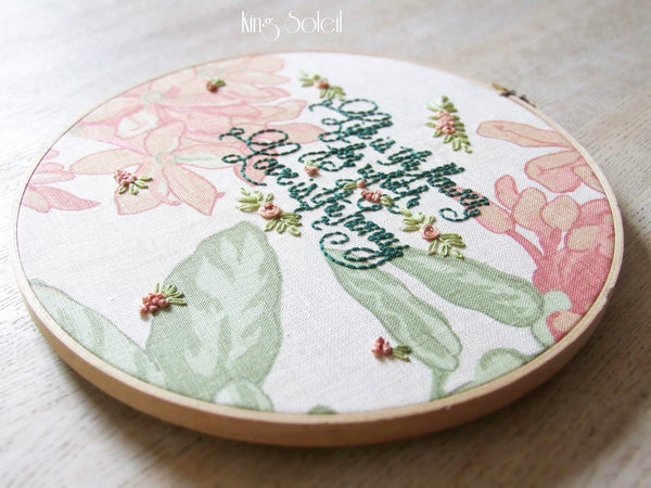 Love is the Honey Embroidery Wall Art - King Soleil - 3