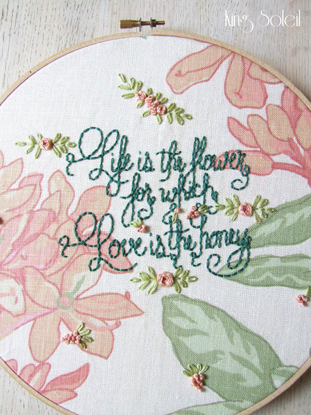 Love is the Honey Embroidery Wall Art - King Soleil - 4