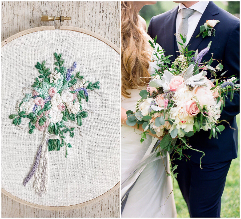 Bridal bouquet custom embroidery 7 inch king soleil bridal bouquet custom embroidery 7 inch izmirmasajfo