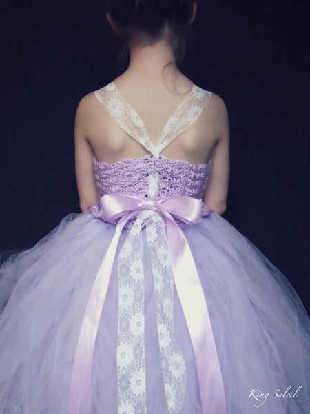Lavender Tulle Flower Girl Dress - King Soleil - 2