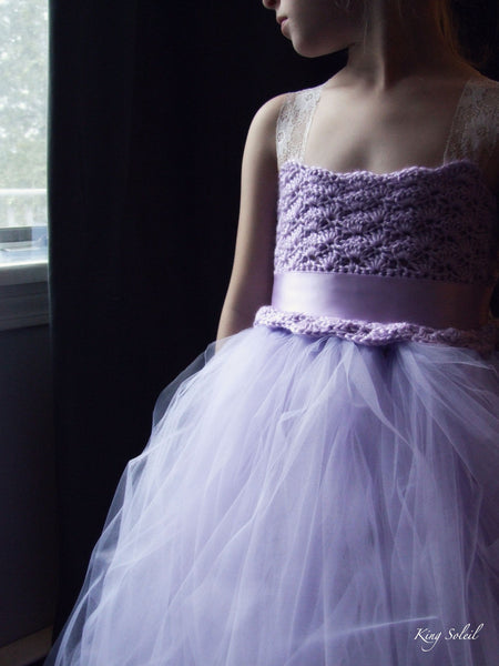 Lavender Tulle Flower Girl Dress - King Soleil - 4