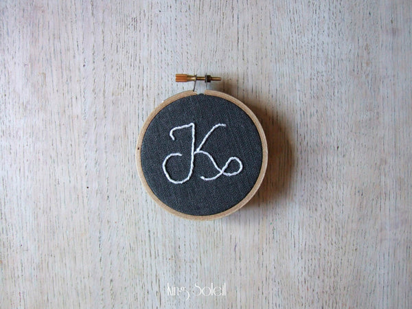 Mini Calligraphy Alphabet Embroidery Wall Art - King Soleil - 2